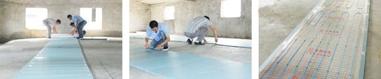 电地暖专用保温板铺设图
