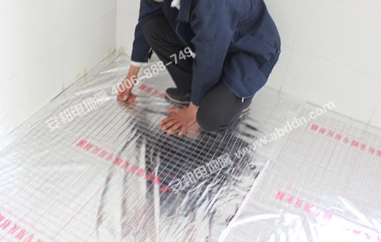 铺设安邦电地暖专用反射膜