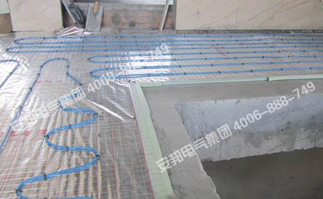 楼梯口电地暖安装图
