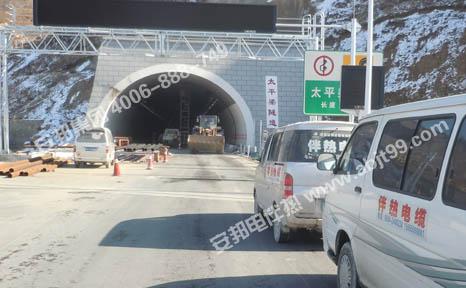 隧道消防管道电伴热安装现场